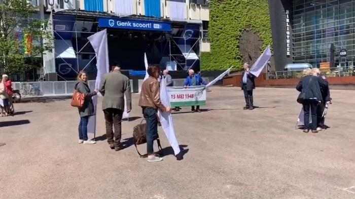 Stilte-protest in Genk tegen verdrijving Palestijnen