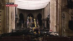 Zo ziet binnenkant van Notre-Dame eruit een maand na de brand