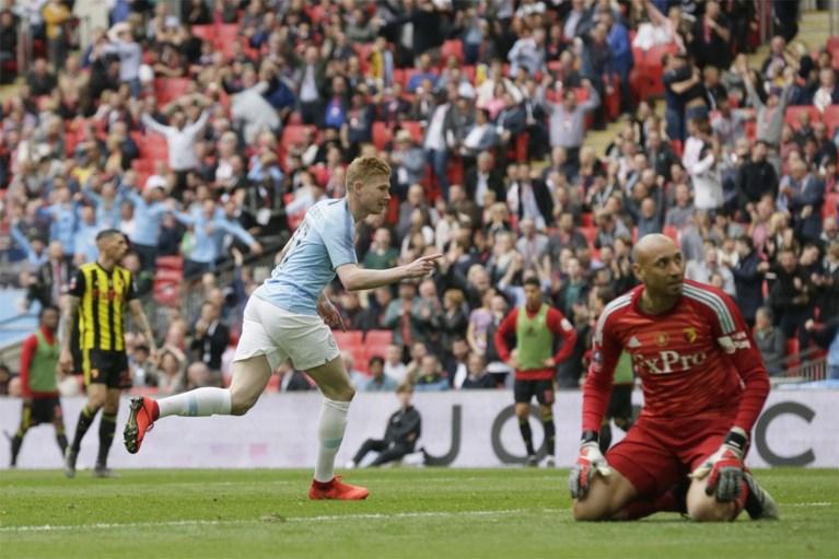 Manchester City wint nu ook FA Cup na demonstratie, De Bruyne is dankzij fenomenale invalbeurt Man van de Match