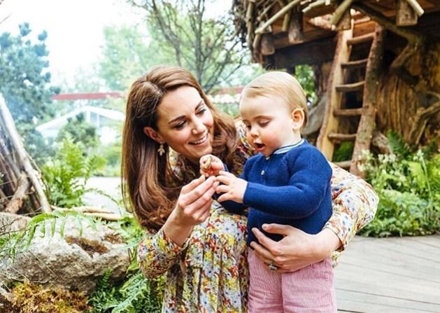 De kleine prins Louis kan al lopen, tonen nieuwe familiefoto's