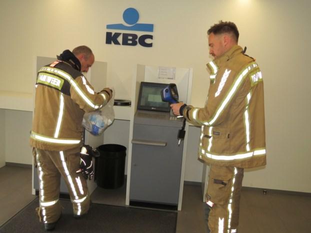 Brandgeur bij KBC in Beverst