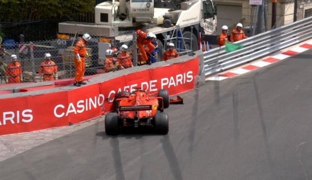 Sebastian Vettel crasht tijdens laatste training, straf dreigt voor Leclerc
