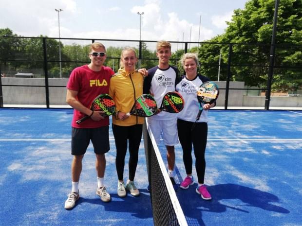 Kim Clijsters opent padelclub in Bree en test ze eerst uit met Elise Mertens