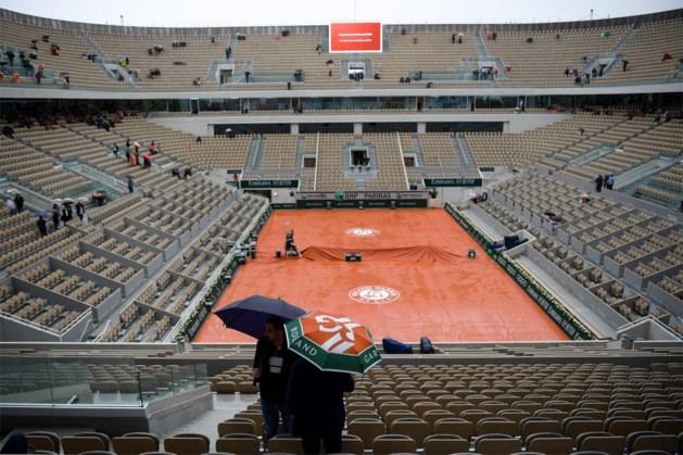 Regen is spelbreker op Roland Garros: alle wedstrijden geannuleerd