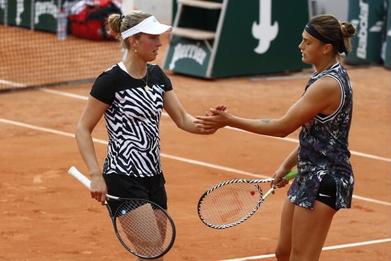 Kirsten Flipkens en Elise Mertens kunnen zich niet plaatsen voor dubbelfinale Roland Garros