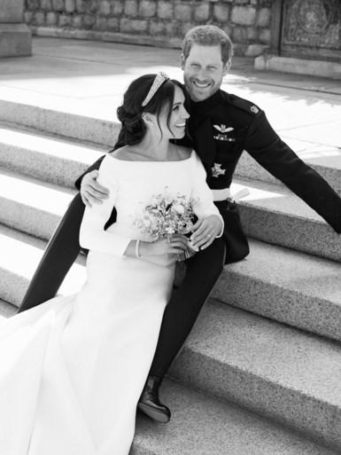 Privéfoto's gelekt van huwelijk Prins Harry en Meghan Markle