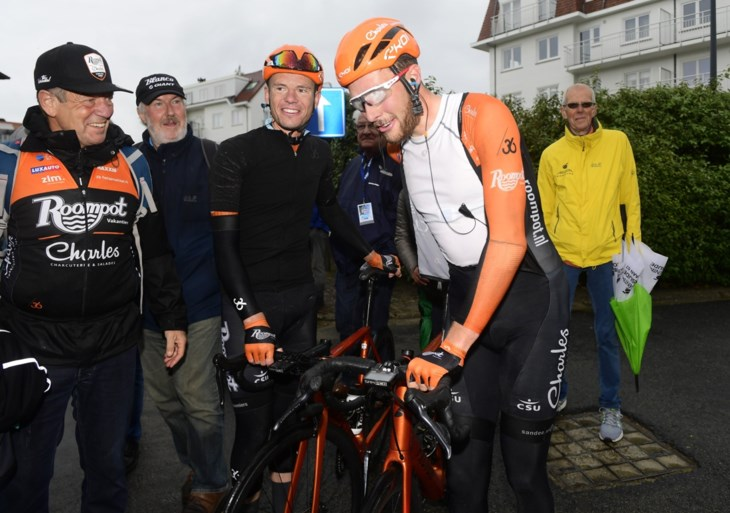 Jan-Willem van Schip blijft als enige het peloton voor en wint eerste etappe in de Baloise Belgium Tour