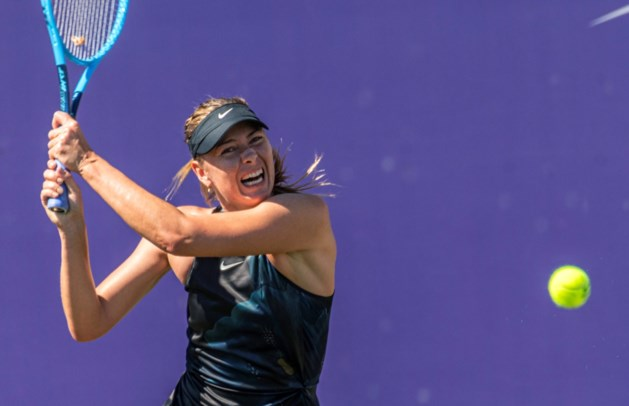 Maria Sharapova wint eerste wedstrijd sinds januari en treft nu Kerber, die Bonaventure uitschakelde in drie sets