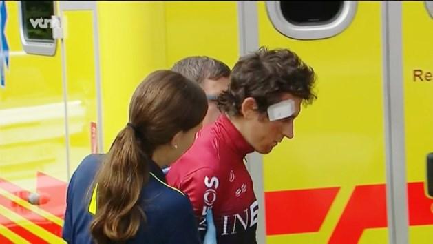 """Verwondingen Geraint Thomas vallen mee na zware val, de Tour komt niet in het gedrang: """"Ik ben echt helemaal oké"""""""