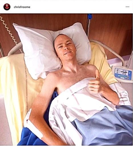 Chris Froome heeft ziekenhuis verlaten na zware crash in Dauphiné, maar mag nog niet naar huis