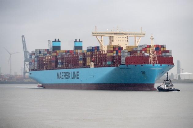 Containerschip vaart op frituurvet naar China