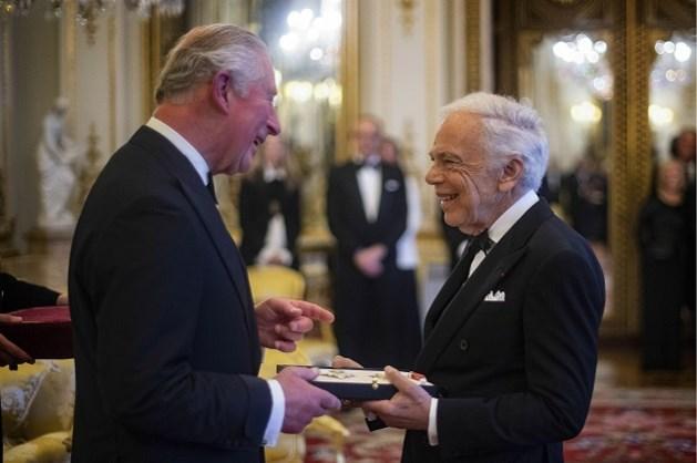 Ralph Lauren is de eerste Amerikaanse ontwerper die tot ridder wordt geslagen