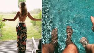 Gluren bij BV's: Véronique De Kock snakt naar vakantie, Elodie haar badpak werd opgegeten