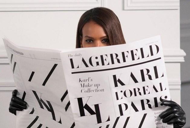 L'Oréal kondigt samenwerking aan met... onlangs overleden Karl Lagerfeld