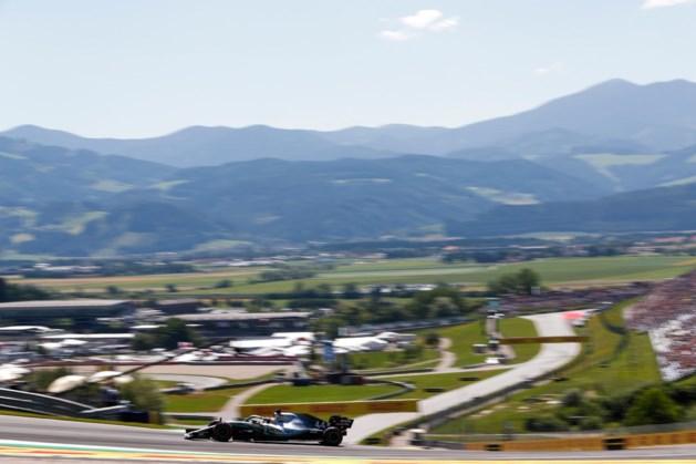 Hamilton fractie sneller dan Vettel tijdens eerste oefensessie in Oostenrijk