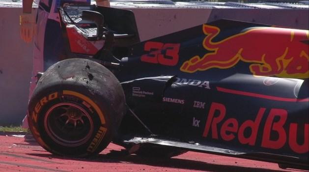Max Verstappen en Valtteri Bottas crashen tijdens oefensessie GP van Oostenrijk