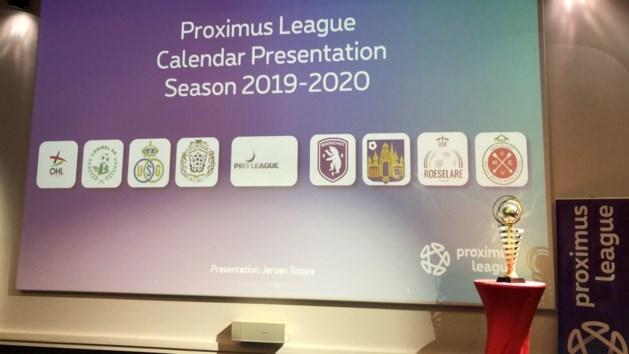 Niet KV Mechelen, maar Beerschot en Lokeren in 1B bij voorstelling kalender Proximus League