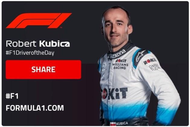 Niet Max Verstappen maar laatste van de race verkozen tot 'Driver of The Day'