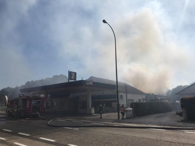 Brand bij Q8 in Zonhoven: brandweer voorkomt dat vuur overslaat naar tanks