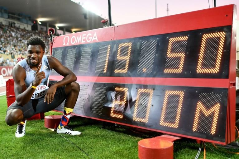 Noah Lyles snelt naar sensationele 19.50 op 200 meter in Lausanne