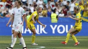 Zweden verovert na winst in troostfinale tegen Engeland het brons op het WK voor vrouwen