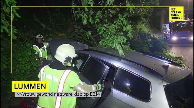 Vrouw gewond bij ongeval op E314 in Linkhout