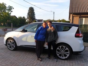 Leerling-bestuurder komt met auto vast te zitten op spoorwegberm in Diepenbeek