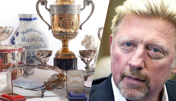 Boris Becker verbraste 200 miljoen euro, maar nu moet tenniskoning zijn trofeeën verkopen