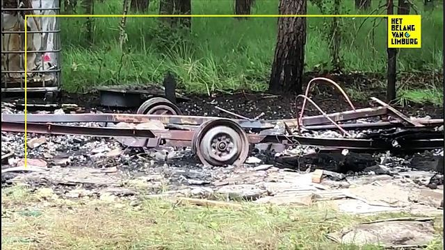 Caravan brandt volledig uit in Zonhoven