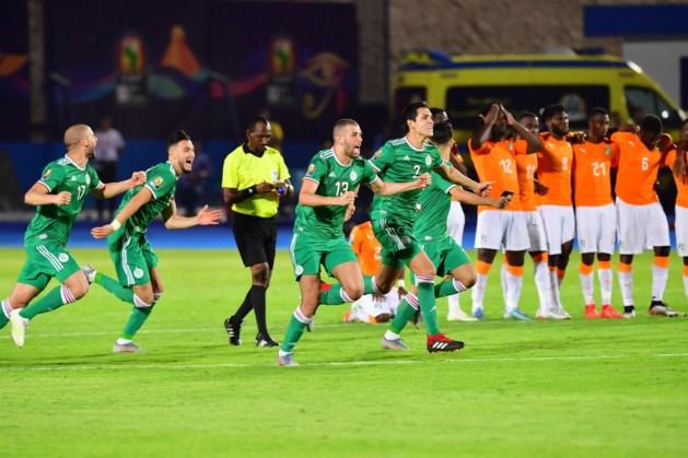 Algerije na strafschoppenreeks voorbij Ivoorkust naar halve finales Afrika Cup