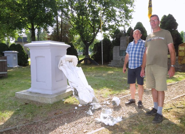 Vandalen vernielen drie grote heiligenbeelden in kasteeltuin Edelhof