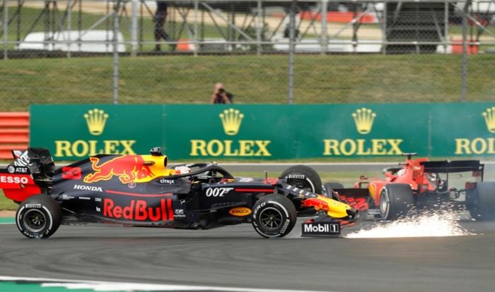 Hamilton wint race vol gebalde duels, Vettel rijdt Verstappen eraf