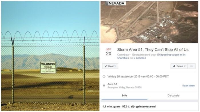 """Miljoen mensen willen Area 51 bestormen: """"Laat ons die aliens zien"""""""