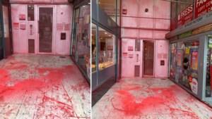 Vlaams Belang-hoofdkwartier besmeurd met rode smurrie