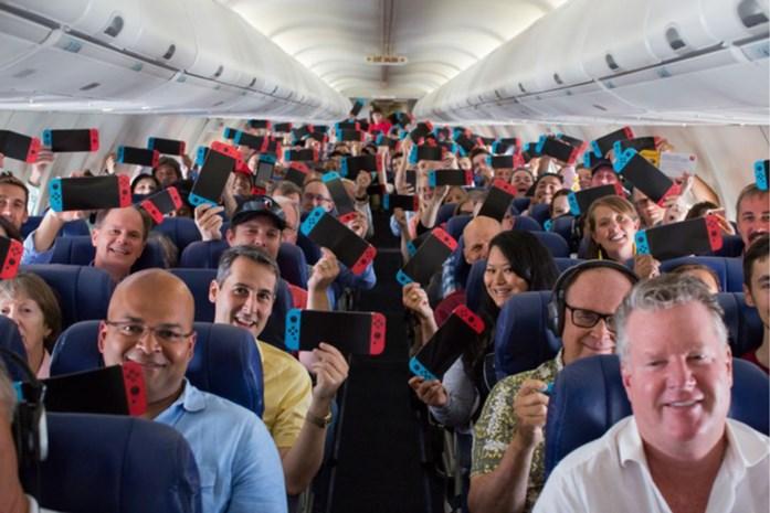 Alle passagiers krijgen Nintendo Switch cadeau tijdens vlucht
