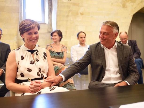 Patrick Dewael en Greet Op de Beeck in het geheim getrouwd