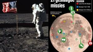 Een kleine stap voor de mens, veel afval voor de eeuwigheid: dit bleef allemaal achter op de maan