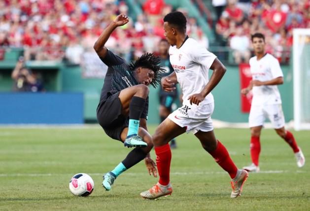 Origi scoort voor Liverpool, maar iedereen heeft het over de smerige overtreding van Sevilla-speler Gnagnon