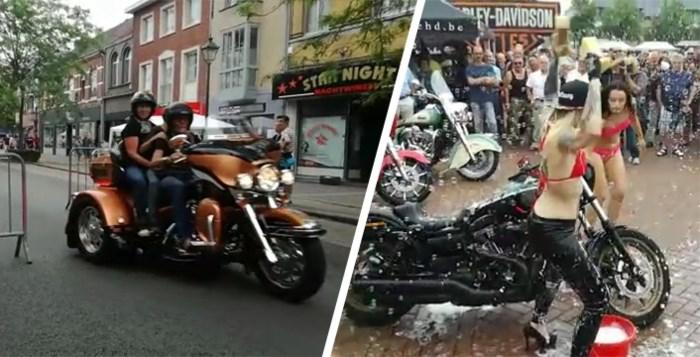 35ste Harleytreffen in Leopoldsburg met 'Bikini Bike Wash'
