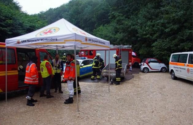 Twee mannen zitten vast in Duitse grot na hevige regen