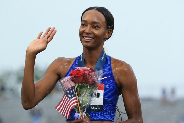 Amerikaanse Dalilah Muhammad breekt zestien jaar oude wereldrecord op 400m horden