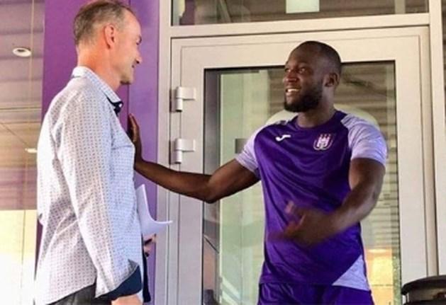 Romelu Lukaku traint mee met Anderlecht