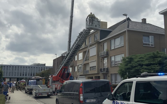 Brandweer rukt massaal uit voor dakbrandje