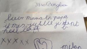Vertederende kampbrief van kleine Milan is terecht dankzij Truiense postbode