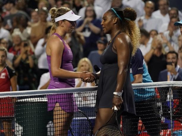 Elise Mertens is in eerste onderlinge duel niet opgewassen tegen te sterke Serena Williams in het Canadese Toronto