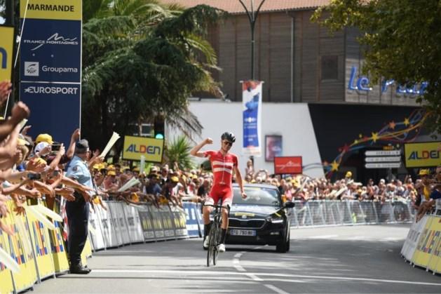 Deen Norsgaard Jorgensen verschalkt peloton in openingsrit van de Ronde van de Toekomst