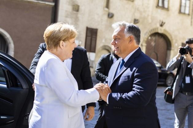 Merkel en Orban herdenken samen val IJzeren Gordijn