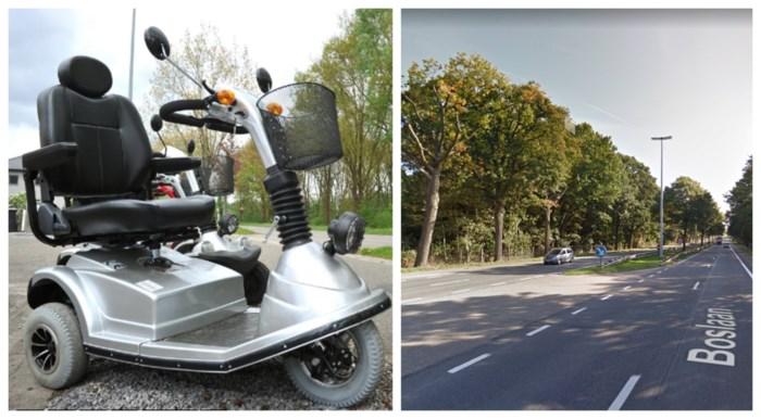 Truck kan niet tijdig remmen: bejaarde op scootmobiel als bij wonder slechts lichtgewond