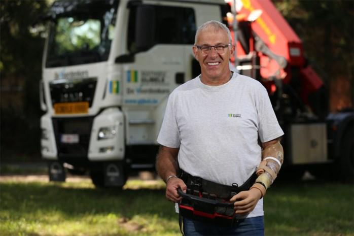 Vrachtwagenchauffeur verliest hand maar keert toch terug naar droomjob
