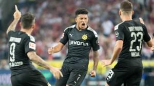 Thorgan Hazard geeft eerste assist voor Dortmund, dat pas in slotfase kan winnen in Keulen